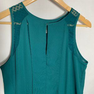 Anthropologie Tops - Maeve Anthropologie Sleeveless Blouse Top Emerald